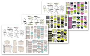 Home Goods Illustrations