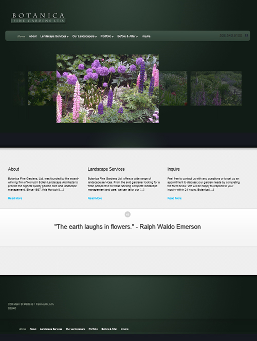 Web Site-Botanica